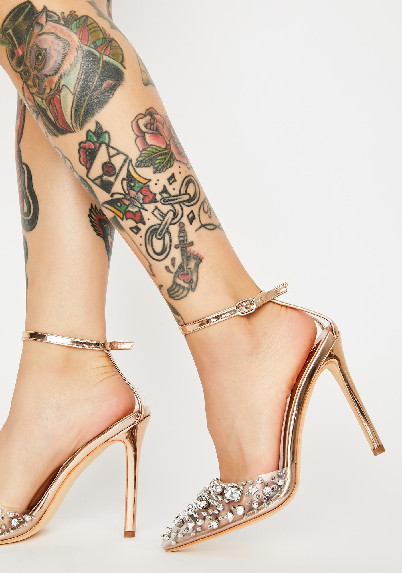 AZALEA WANG Popstar Jeweled Heels