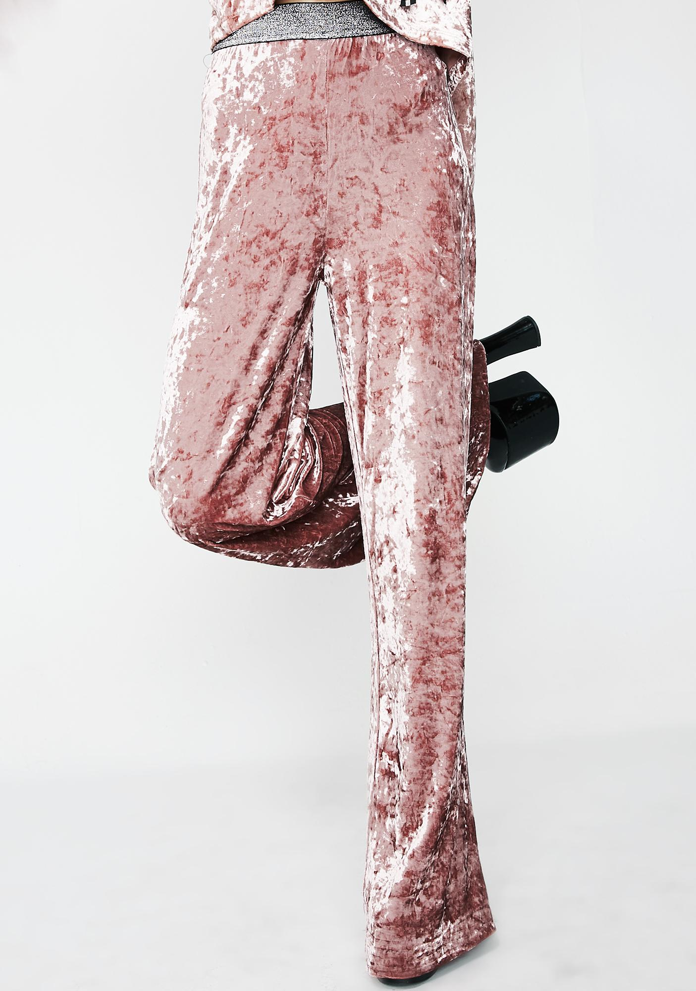Crushed Babe Flared Pants