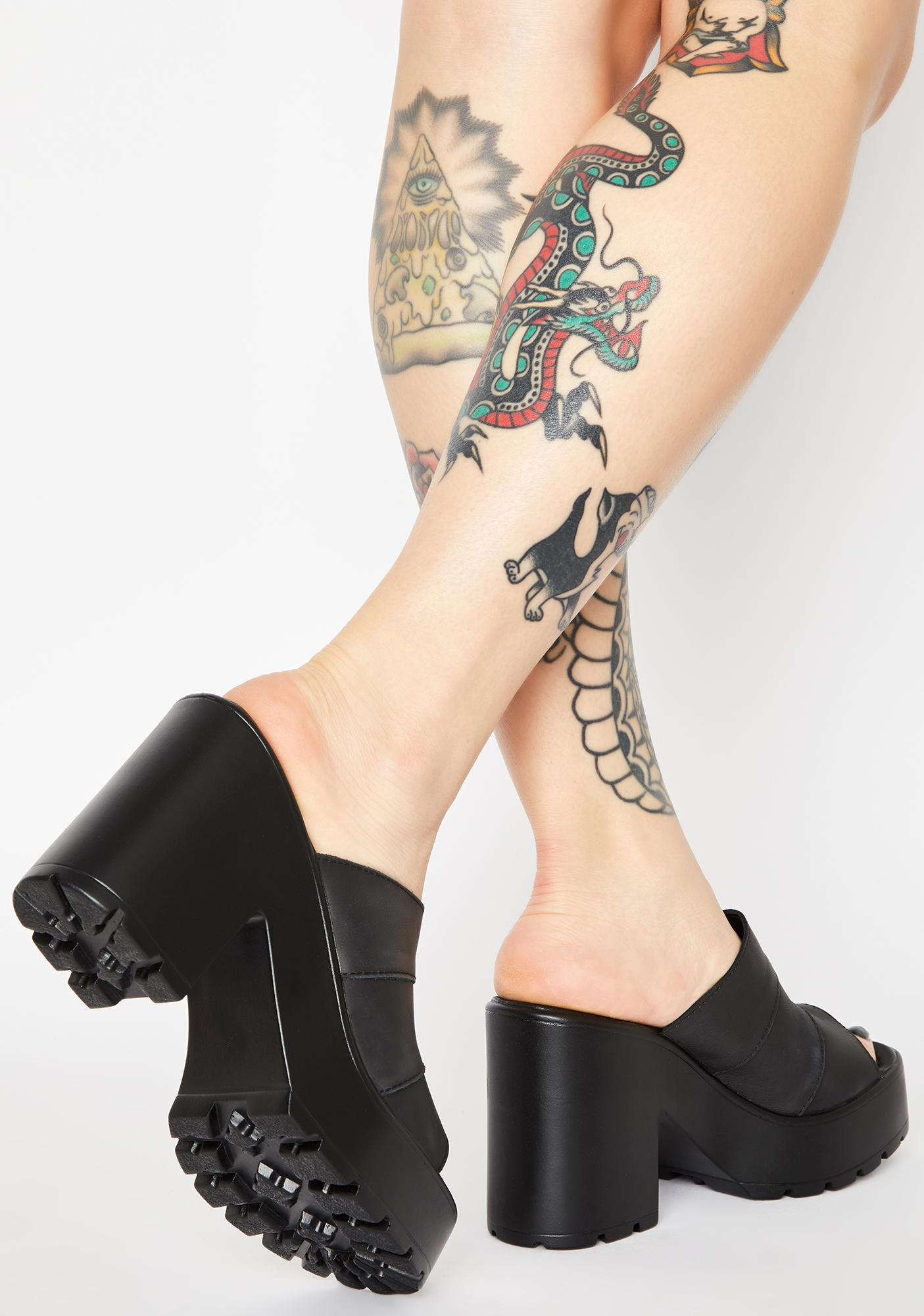 ROC Boots Australia  Black Minx Block Heels