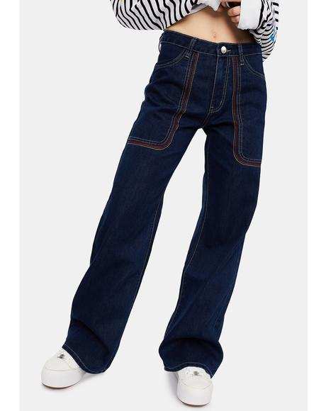 Rockin' Around Wide Leg Jeans