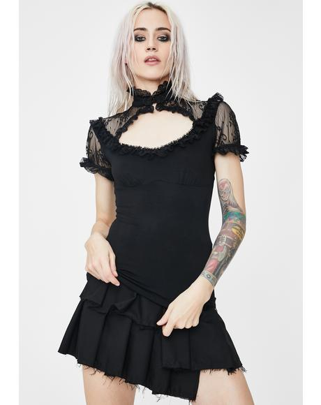 Gothic Lace Knit Tee