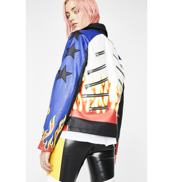 Current Mood Leave Em' In The Dust Moto Jacket
