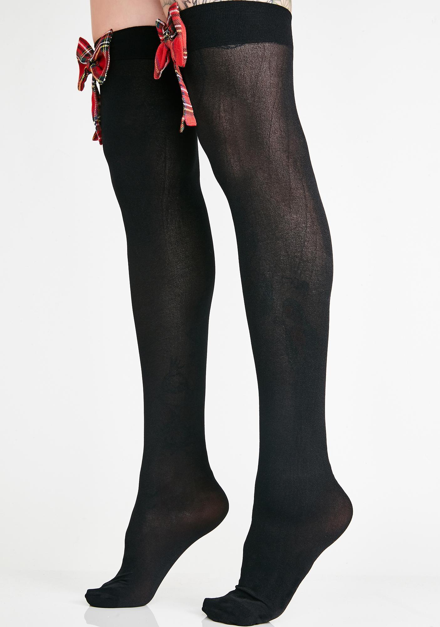 School Grl Gone Bad Thigh High Socks