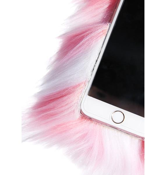 Skinnydip Pink Fluffy iPhone Case