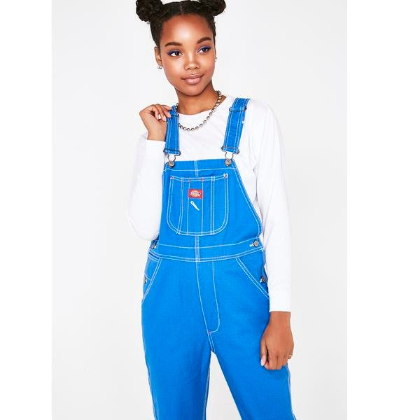 Dickies Girl Indigo Relaxed Twill Overalls