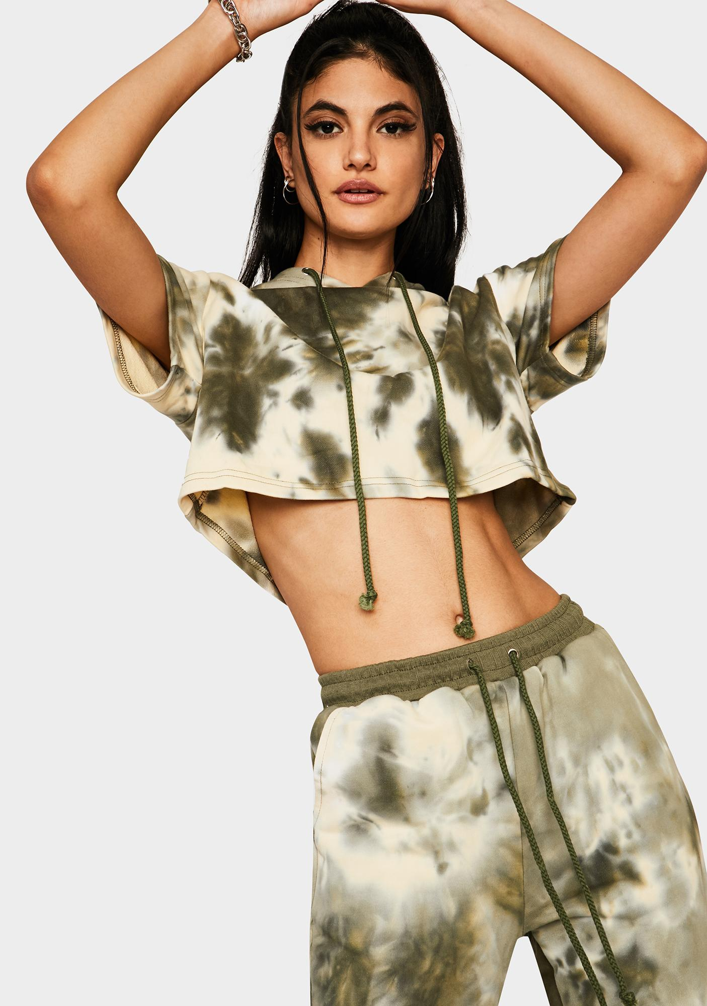 Olive Down To Chill Jogger Set