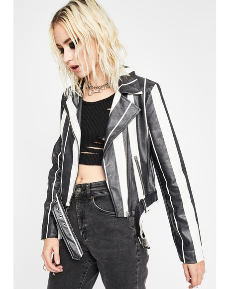 Night Main Headline Moto Jacket