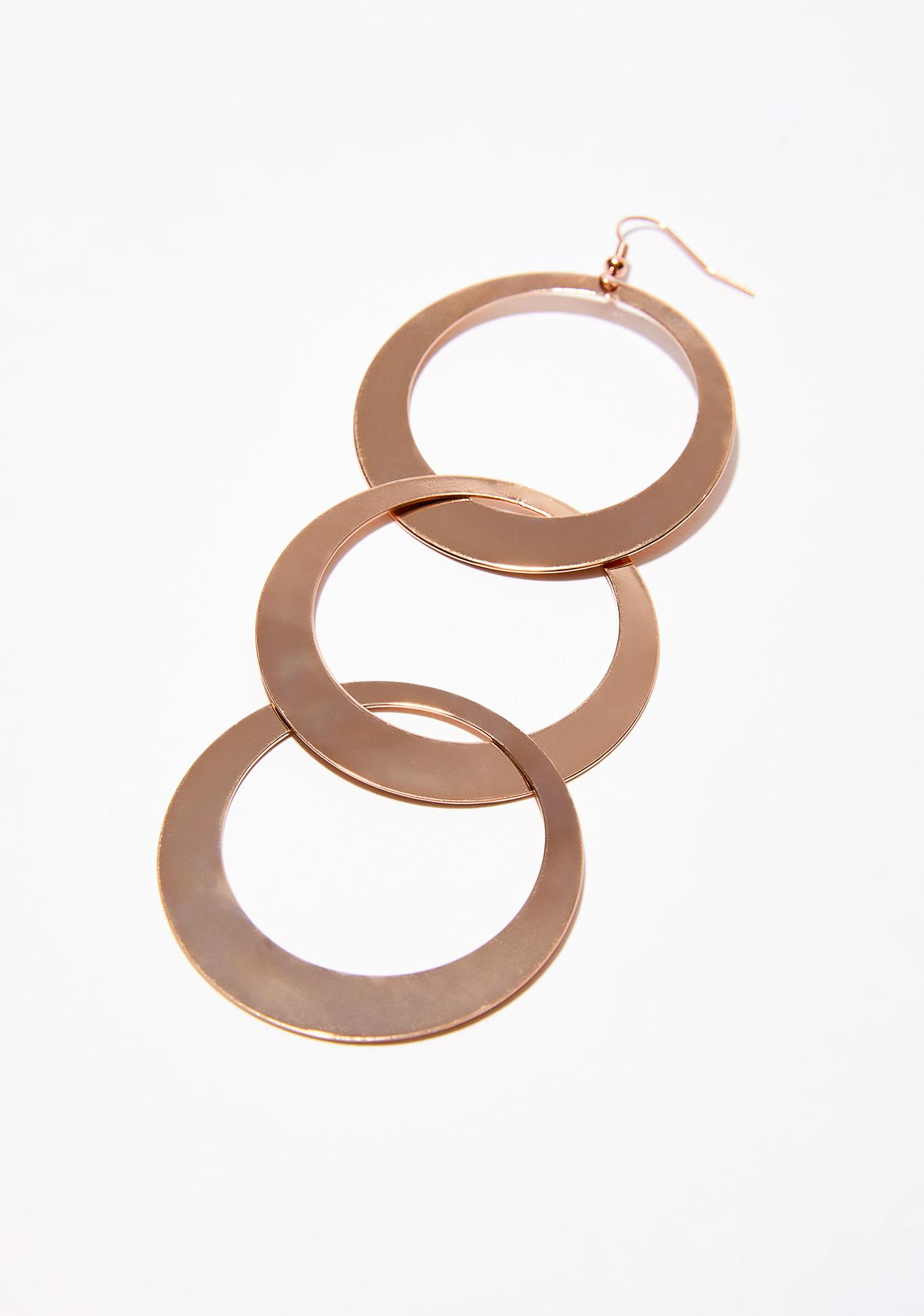 Groovy Way Circle Earrings