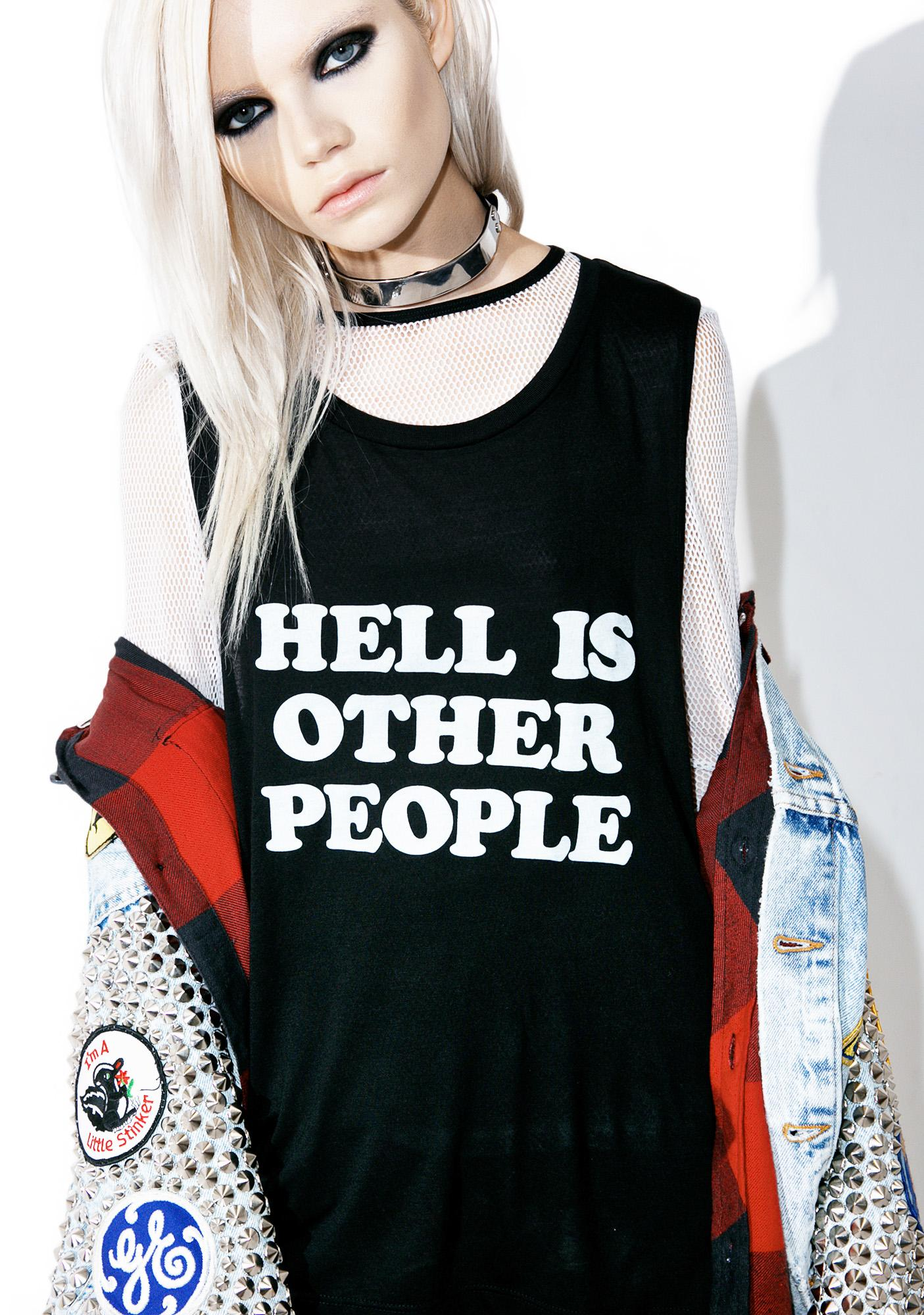 Burger And Friends Hell Is Other People Muscle Tank