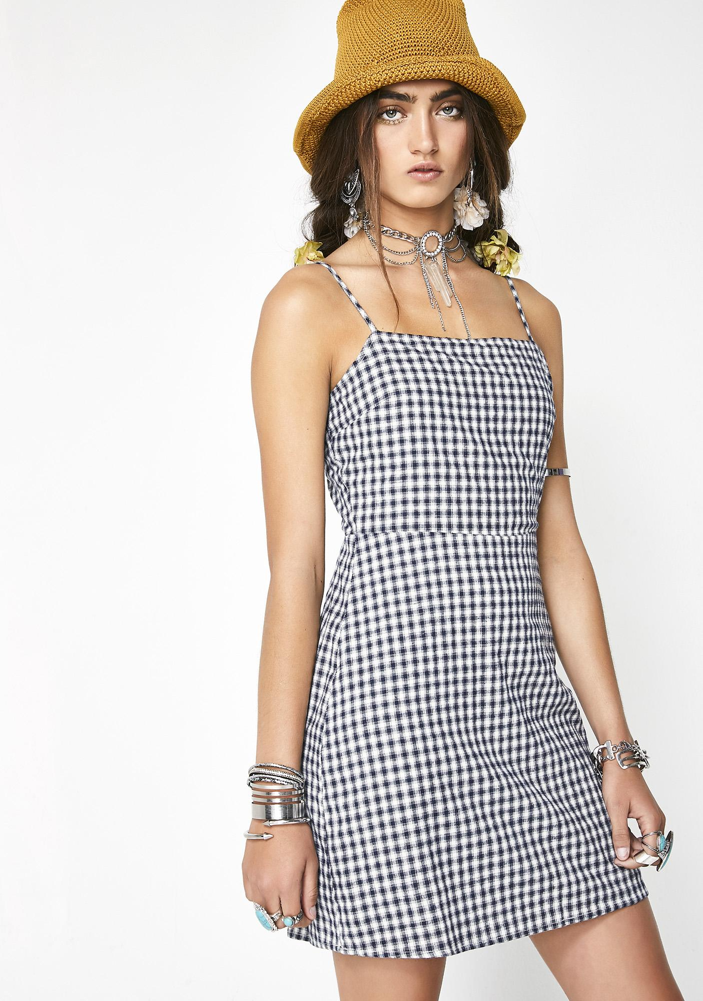 Happy Story Gingham Dress
