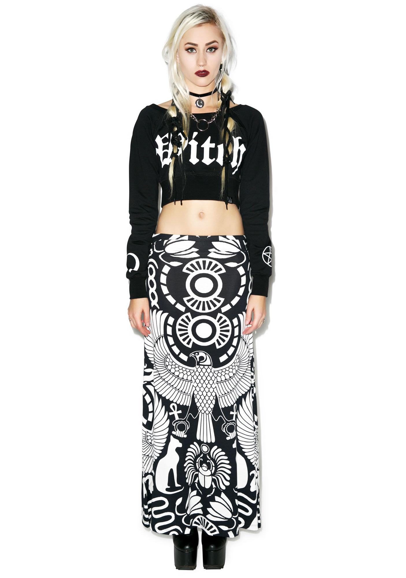 Killstar Vulture Maxi Skirt
