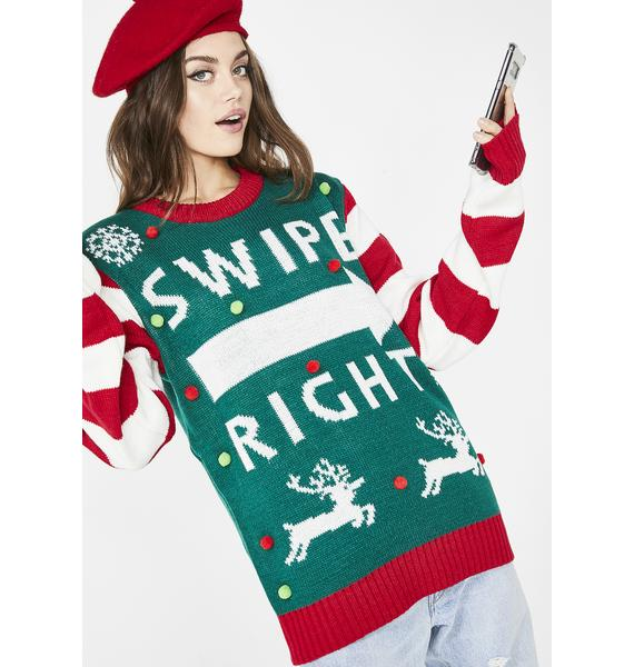 Always Swiping Right Sweater