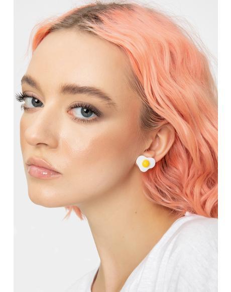 Hella Fried Egg Earrings