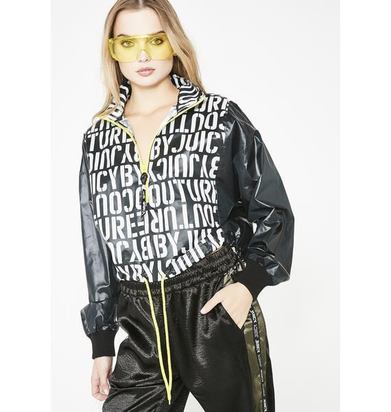 JUICY COUTURE Stencil Juicy Pullover Jacket