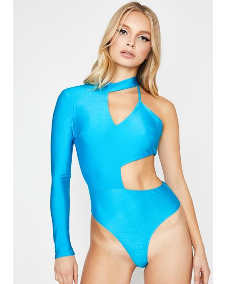 Aqua Hella Moods Cut-Out Bodysuit