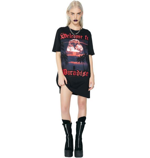 Disturbia Paradise Longline T-Shirt