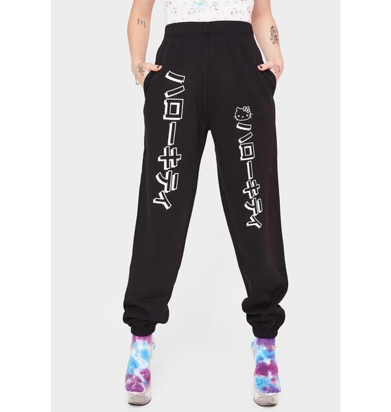NEW GIRL ORDER Hello Kitty Graphic Joggers