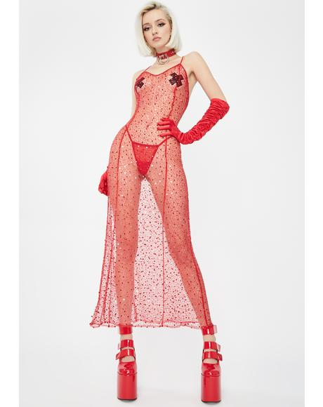 Red Viva La Cher Gown