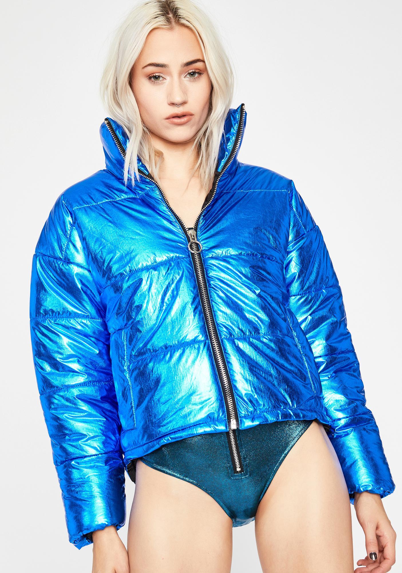 Royal Hypnotic Icon Metallic Puffer Jacket