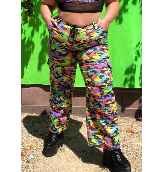 Club Exx Luxe Love Is A Battlefield Cargo Pants