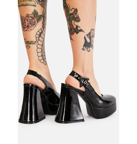 Lamoda Here For It Patent Heels