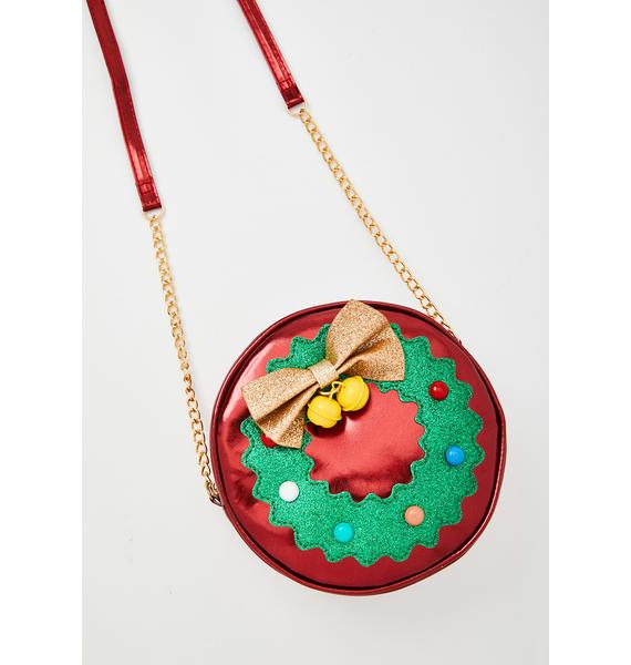 Jolly Wreath Crossbody Bag