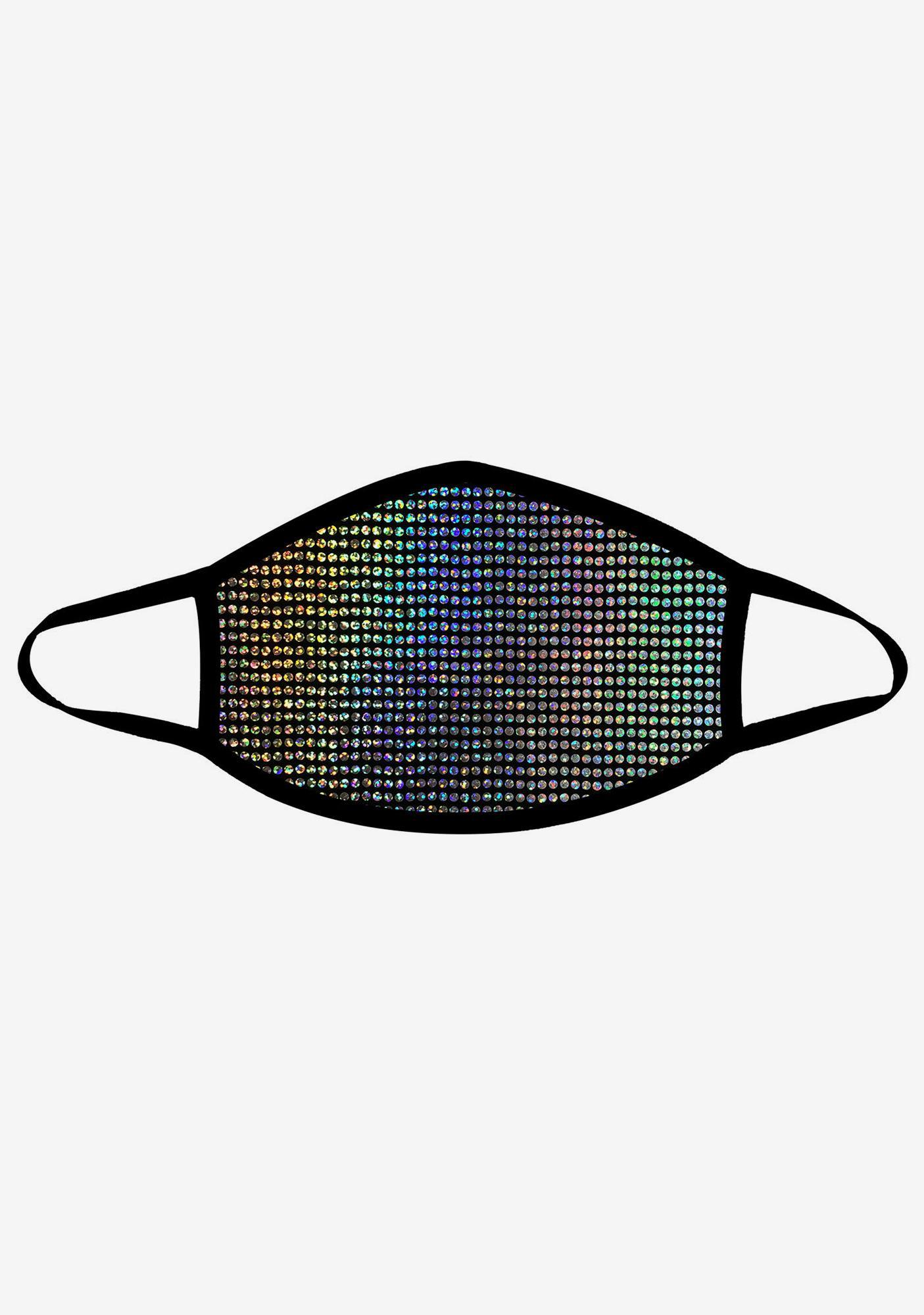 Neva Nude Disco Robot Super Holographic Face Mask