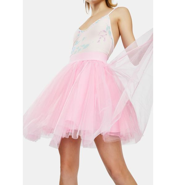 Kiki Riki Pink Layered Tulle Mini Skirt