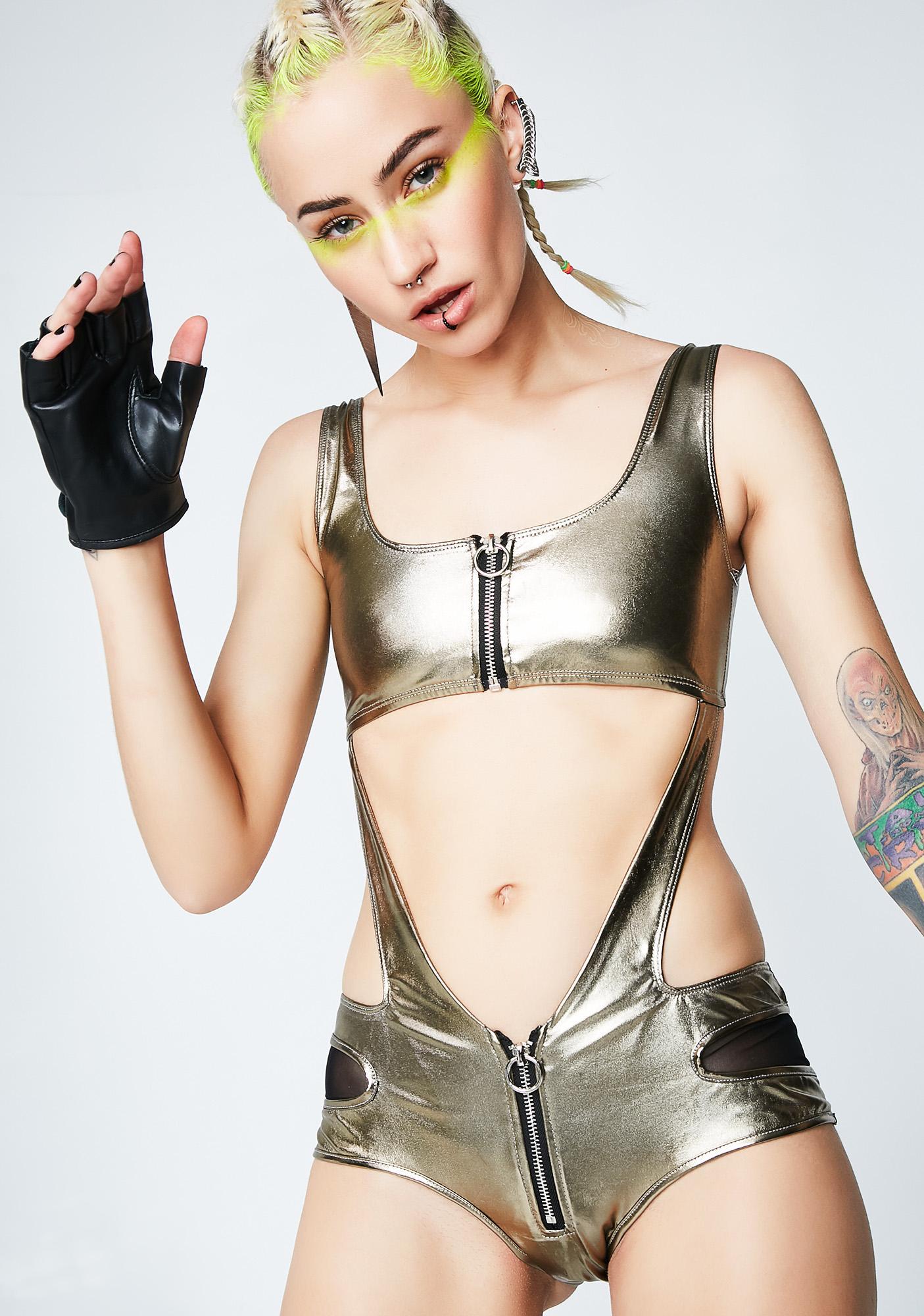 Club Exx Unzip Me Bodysuit