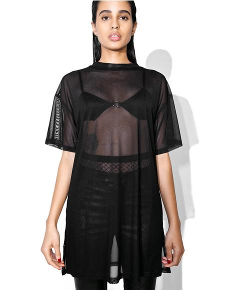Midnight Don't Mesh With Me Tee