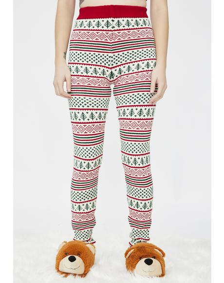 Vintage Christmas Knit Leggings