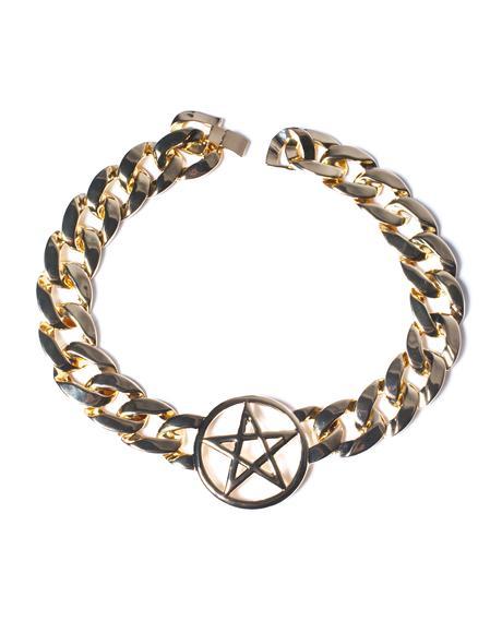 Pentagram Chain Choker