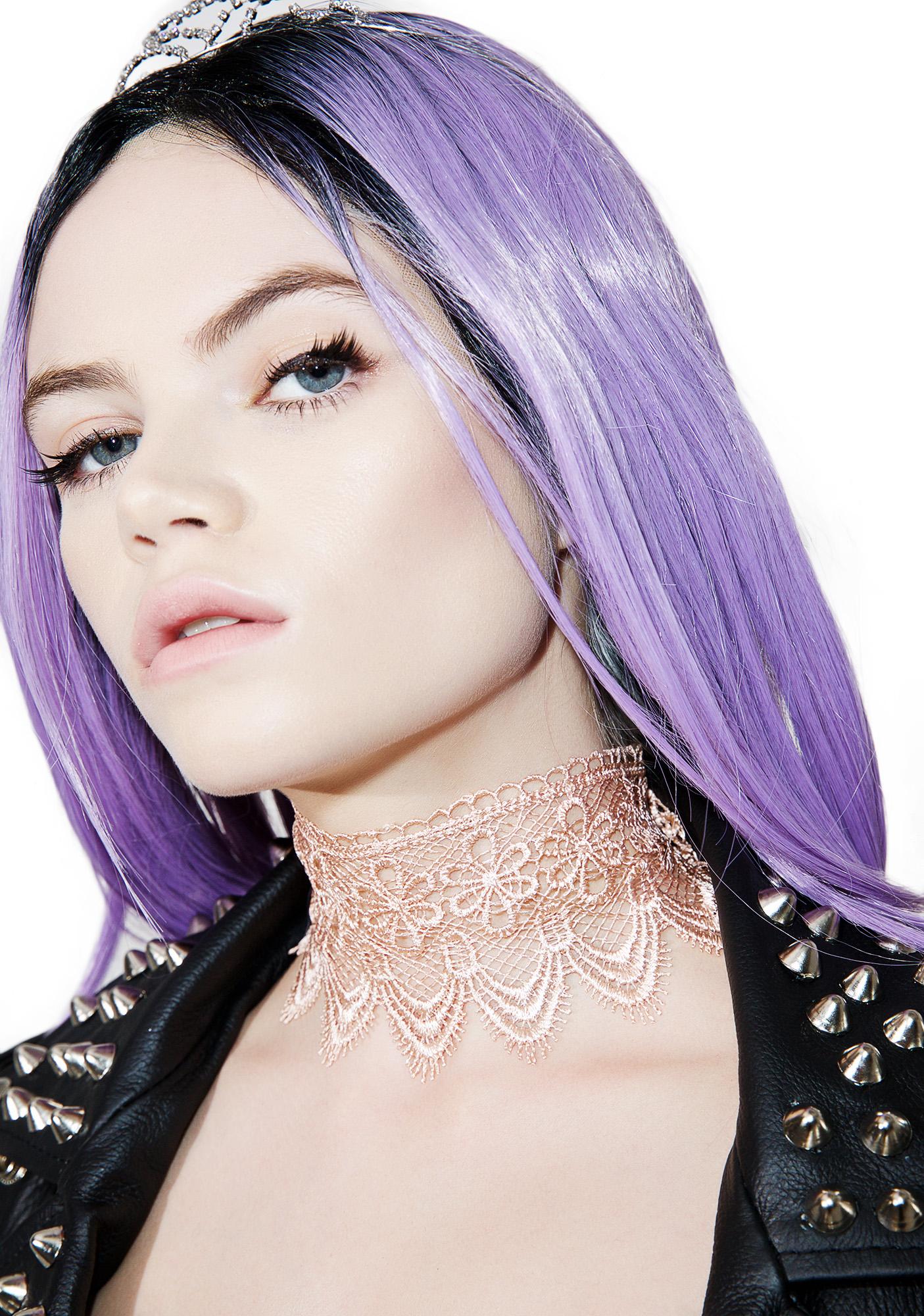Cream Eyelet Lace Choker