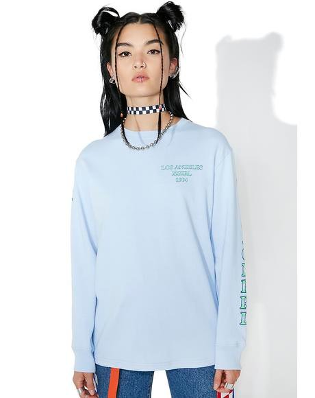 So Blue Riot Grrl Long Sleeve Tee