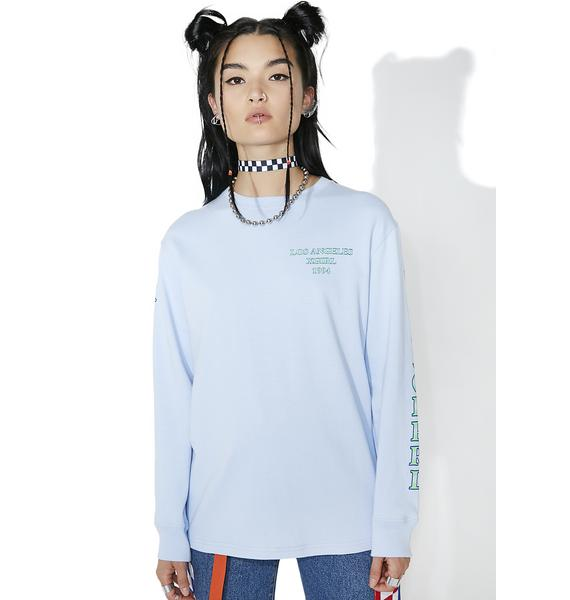 x-Girl So Blue Riot Grrl Long Sleeve Tee