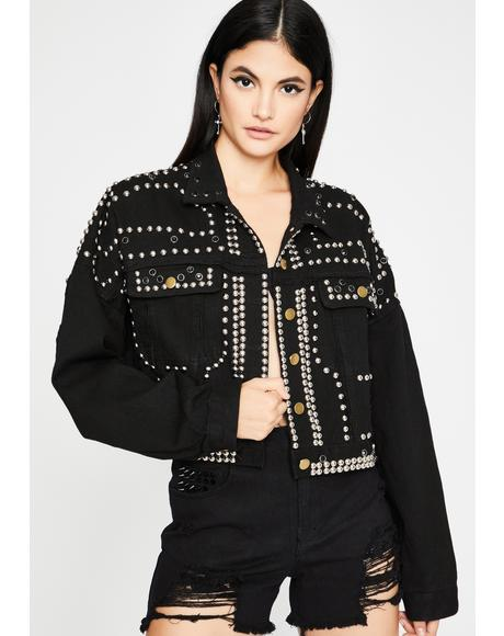 Mess U Up Studded Jacket