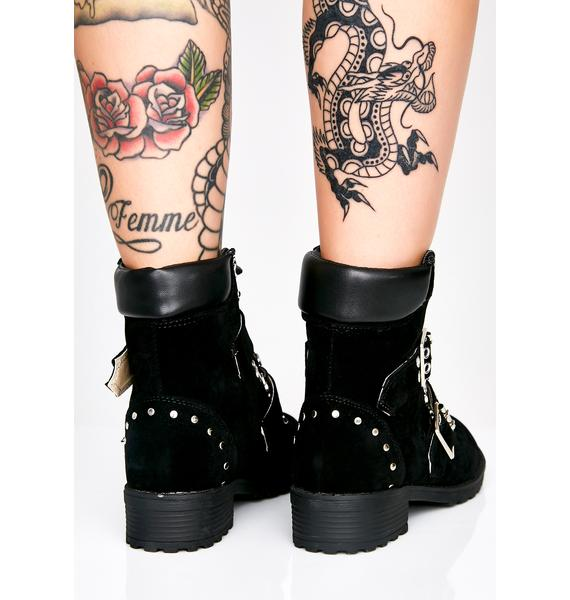 Midnight Maven Buckle Boots