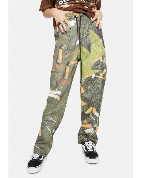 Litter Printed Beach Pants