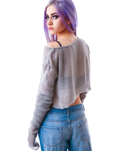 Mohair Off the Shoulder Sweater
