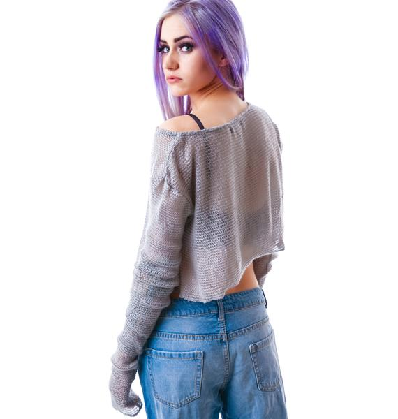 24HRS Mohair Off the Shoulder Sweater
