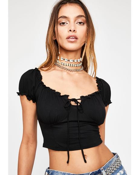 Dark Lowkey Karma Crop Top
