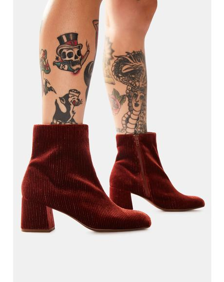 Rust Good Vibes Ankle Boots
