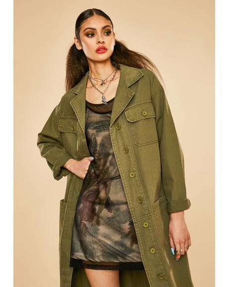 Master In Disguise Twill Military Jacket
