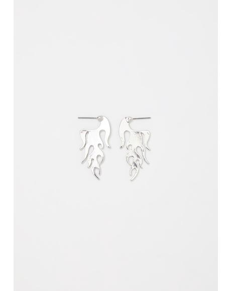 Burn Notice Flame Earrings