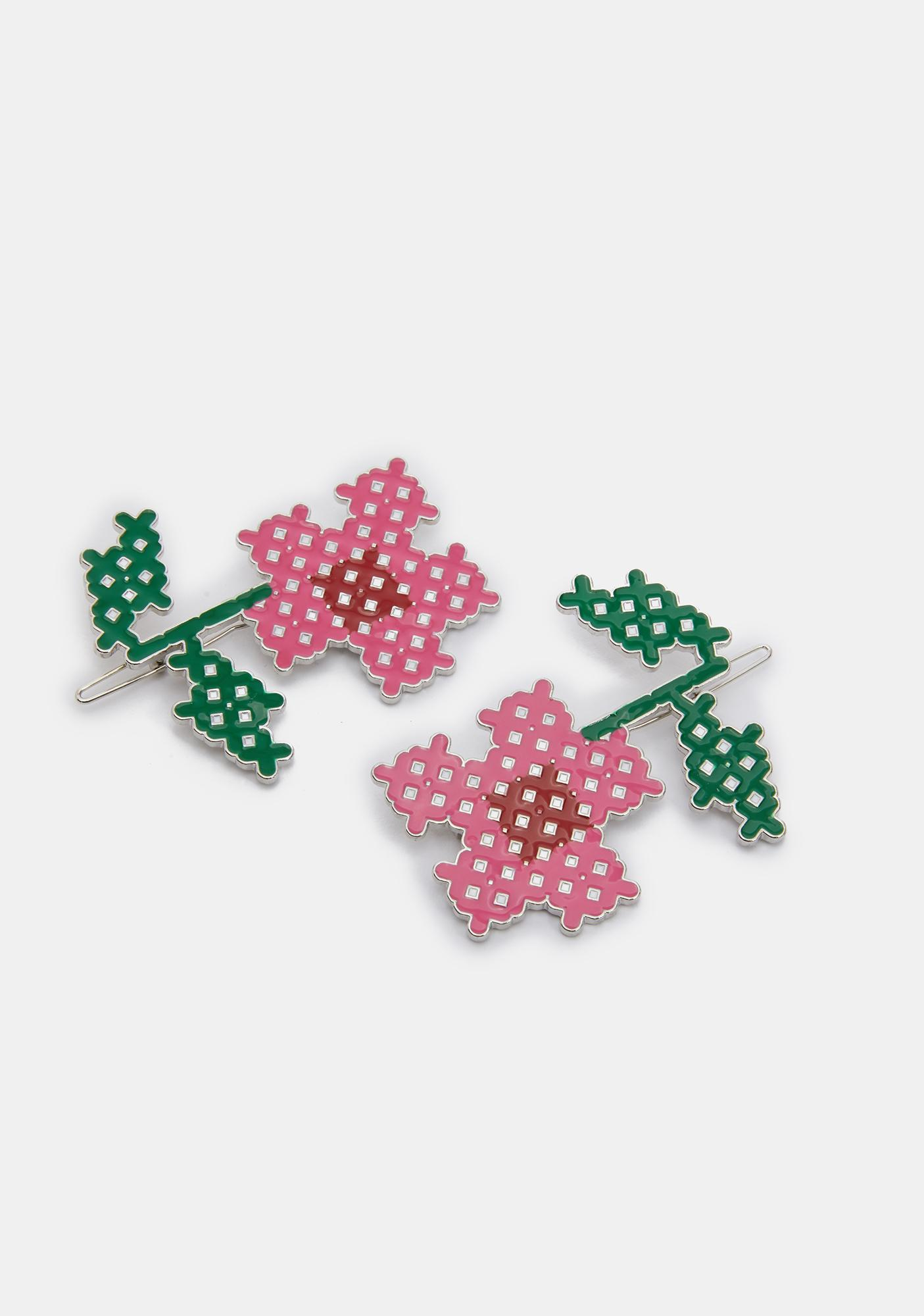 What In Carnation Hair Pin Set