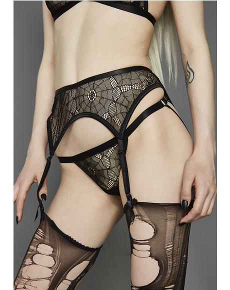 Web Of Lies Mesh Thong