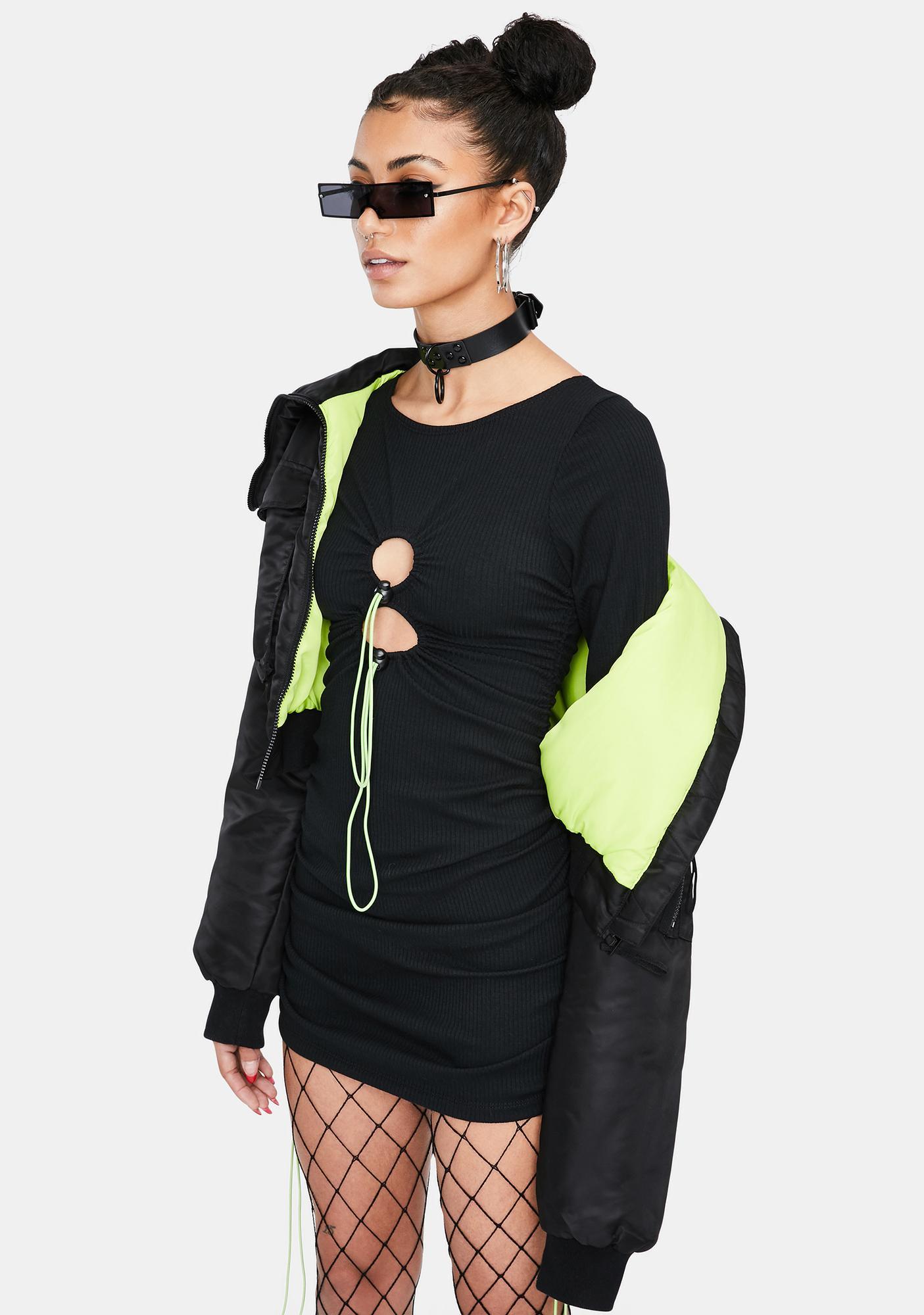 Ivy Berlin Brittney Cut-Out Mini Dress