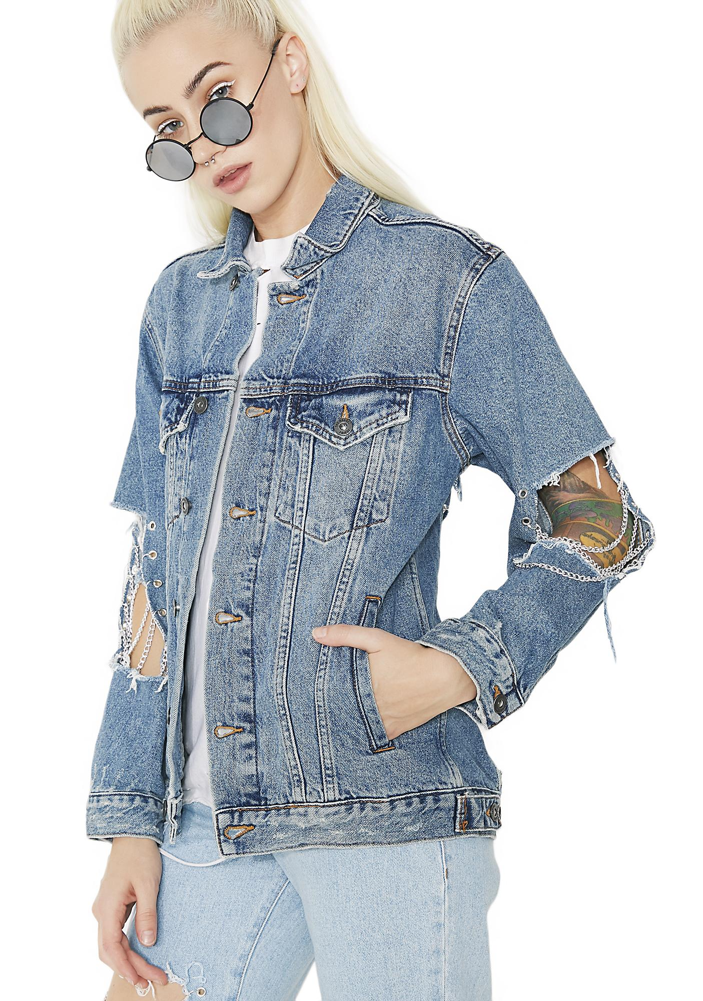 The Ragged Priest Steel Denim Jacket