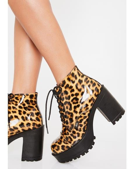 Fierce Pampas Ankle Boots