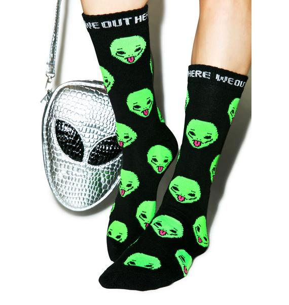 RIPNDIP We Out Here Crew Socks